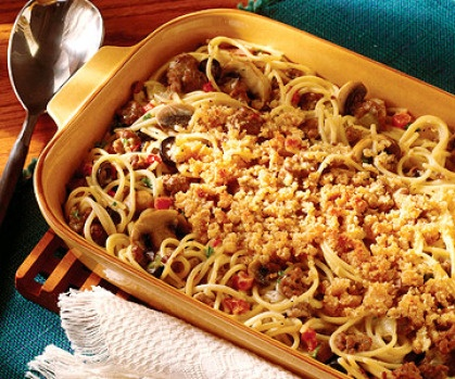 Creamy Chicken and Spaghetti Bake | Food is Fab. | Pinterest