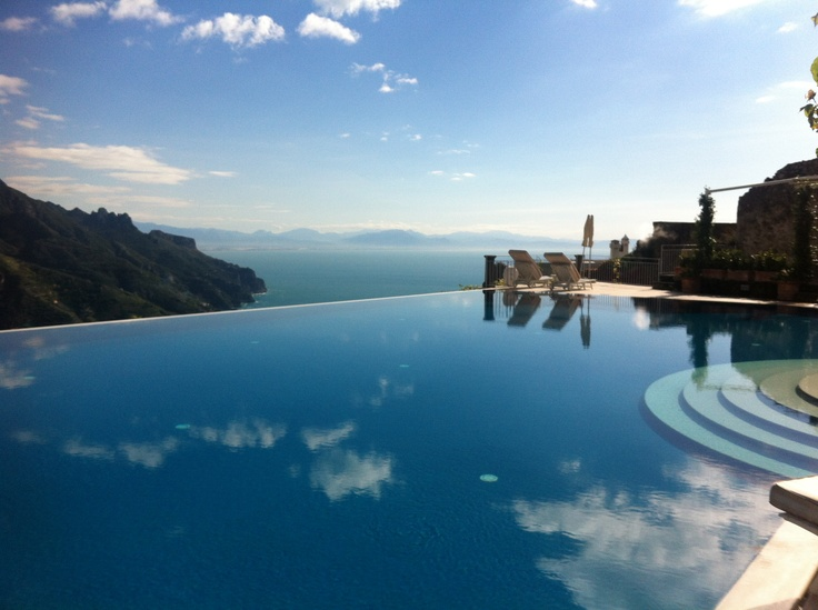 Hotel Caruso- Ravello...360degree views from the fabulous infinity pool.