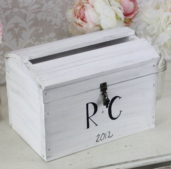 Wedding Gift Lock Box : Wedding Card Box With Lock Vintage Wedding Decor Morgann Hill Designs