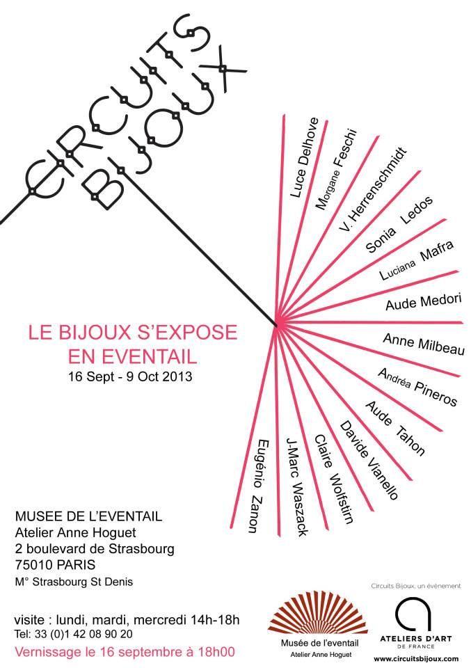 Le BIJOU s'expose en éventail - PARIS - 16 sept-9 oct