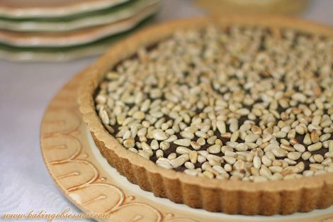 chocolate ricotta tart with pine nuts. | Tart and Pie | Pinterest