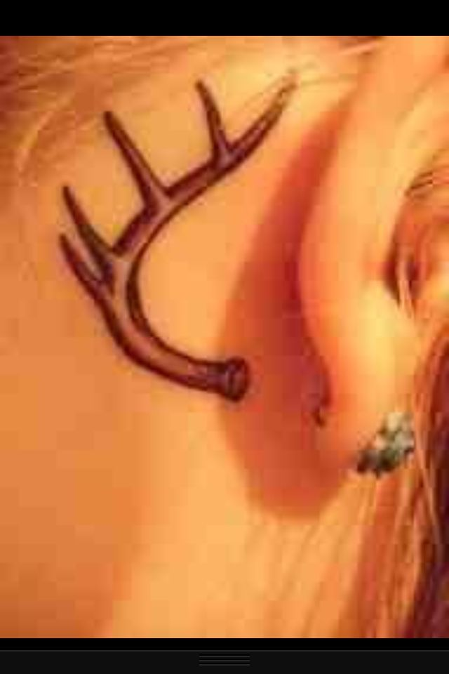 The gallery for deer antler heart tattoo for Deer antlers tattoo