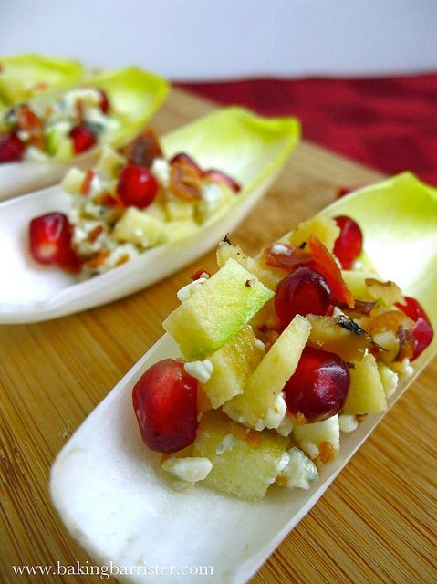 ... : Bacon, Blue Cheese & Pomegranate Endive Spears (minus bacon