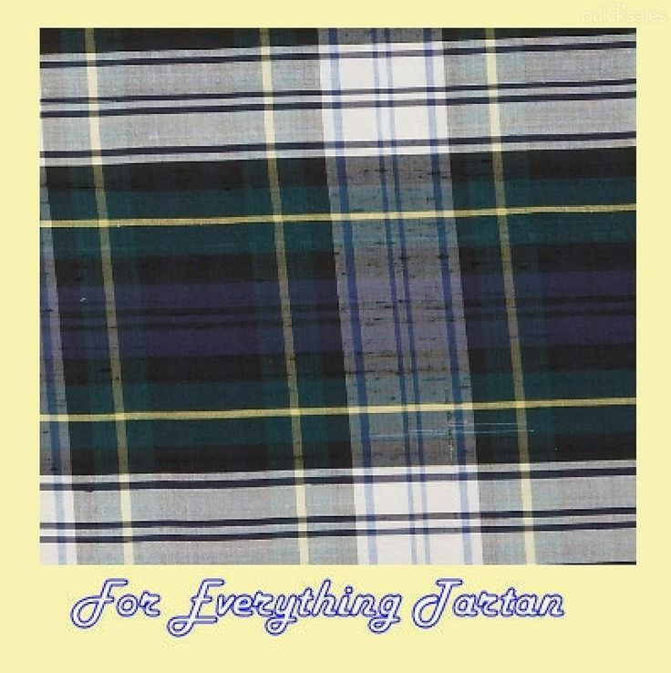 Gordon dress modern tartan dupion silk plaid fabric x 1 metre by