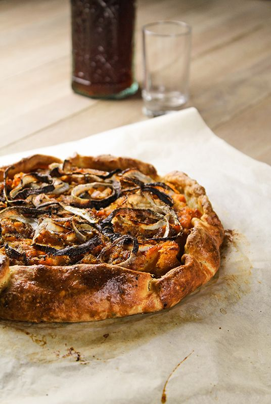 donkey and the carrot roasted butternut squash galette with onions and ...