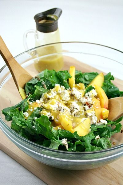 Kale and Lentil Salad with Honey Mustard Vinaigrette w/ goat cheese ...