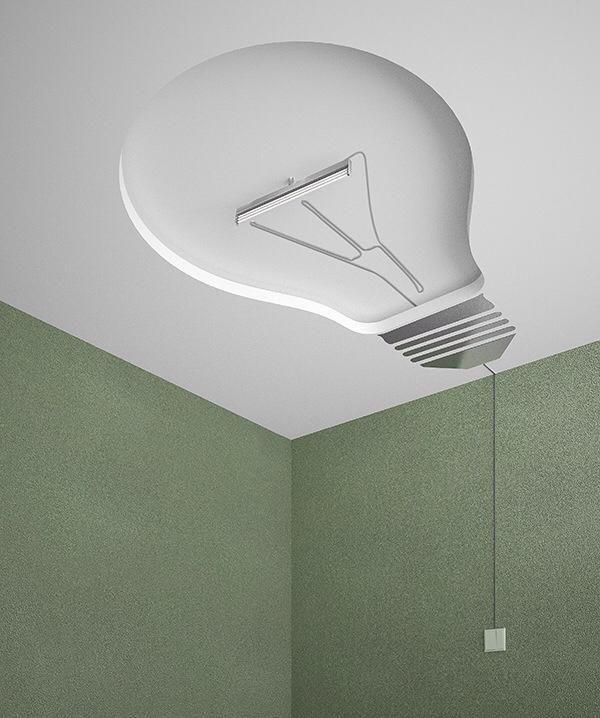 light bulb shaped ceiling light misc pinterest. Black Bedroom Furniture Sets. Home Design Ideas