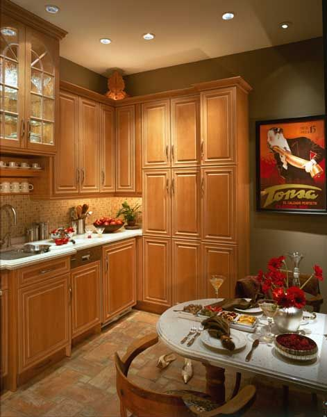 Traditional kitchen with olive green wall for the home - Olive green kitchen ideas ...