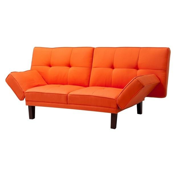orange sofa bed dream home pinterest