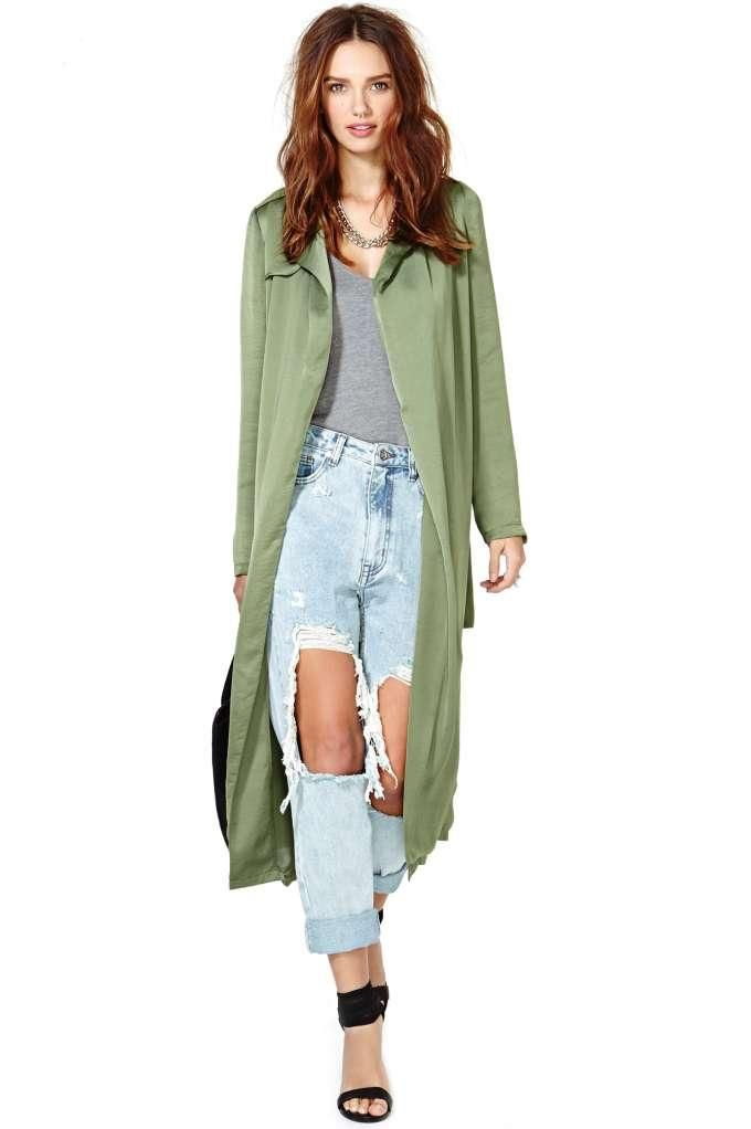 Nasty Gal Rendezvous Trench Coat