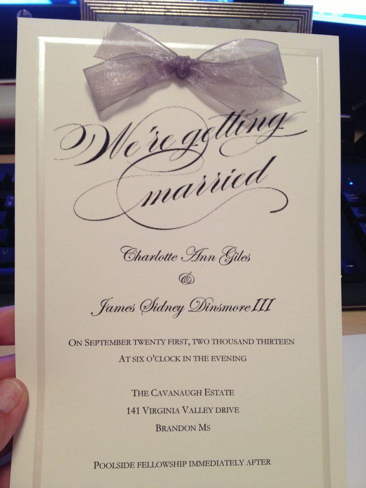 Simple wedding invitation | Wedding Ideas | Pinterest