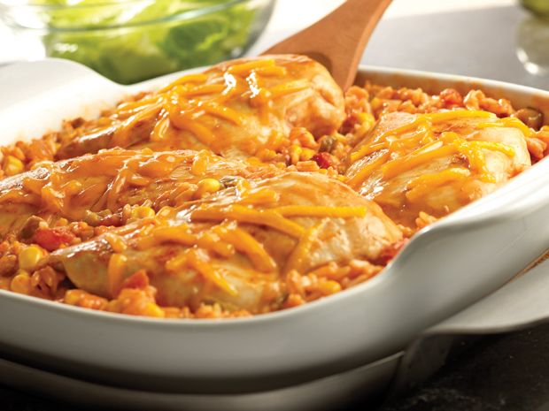 Tex-Mex Chicken & Rice Bake Recipe : Food Network - FoodNetwork.com