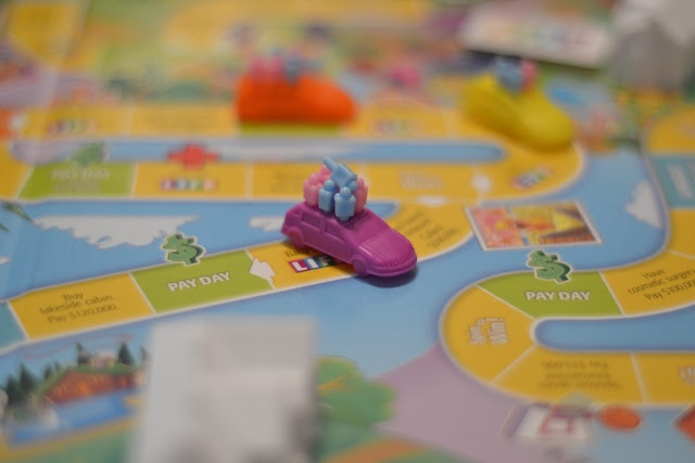 Life Game Board Spaces Would be a cute way to...