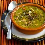 ... Lucky Black-Eyed Pea Soup Recipe with Chicken-Garlic Sausage and Bell