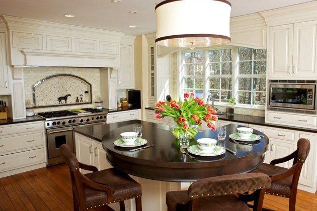 Winnetka Kitchen Round Seating On Island My Dream Home
