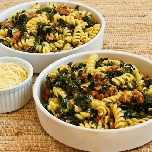 pasta with hot sausage and kale | foood. | Pinterest