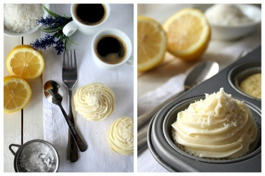 Lemon and coconut cupcakes with cream cheese frosting (in Greek ...