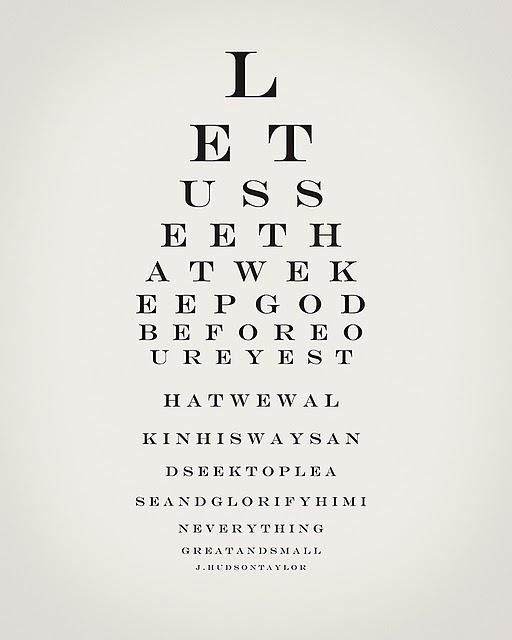 Hudson Taylor Eye Chart
