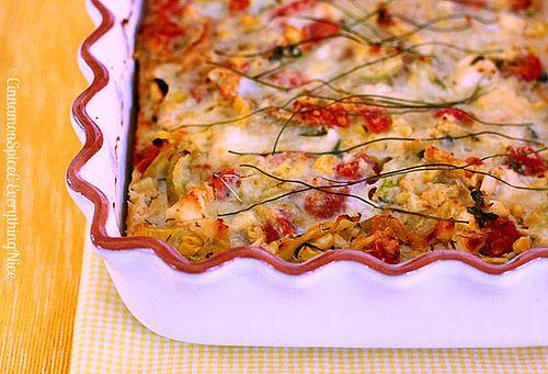 Crustless Zucchini, Corn and Tomato Quiche with Feta (not a fan of ...