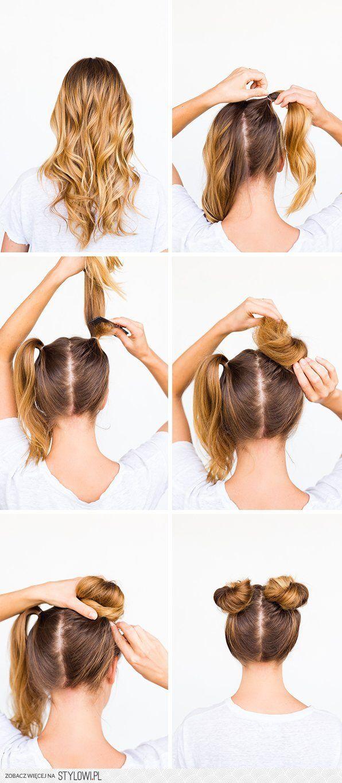 Как сделать пучки из волос поэтапно 680