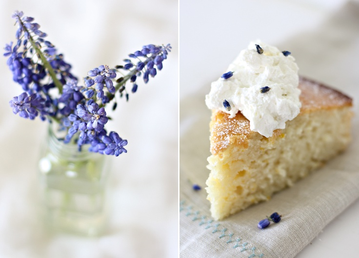 easy lemon cake with lavender cream | Pastry | Pinterest