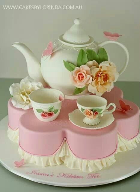 Tea cup cake Cakes II Pinterest
