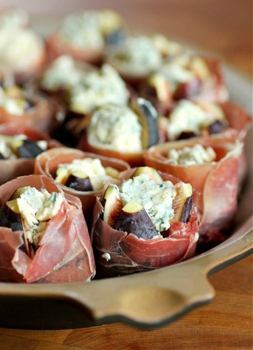 Figs Stuffed with Blue Cheese Wrapped in Prosciutto (via Living ...