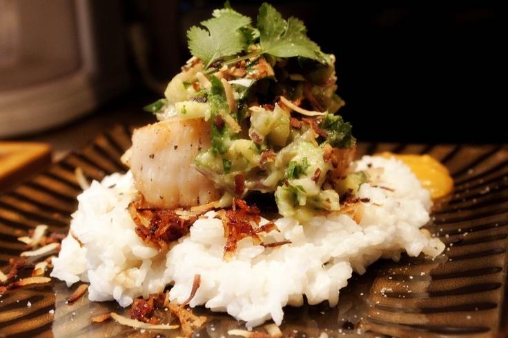 Seared Scallops With Tropical Salsa Recipe — Dishmaps