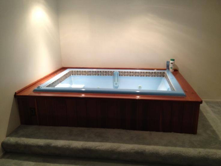 hot tub in the basement now it 39 s a storage room or exercise room