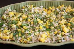 Corn and Barley Salad with Lemon-Chive Vinaigrette
