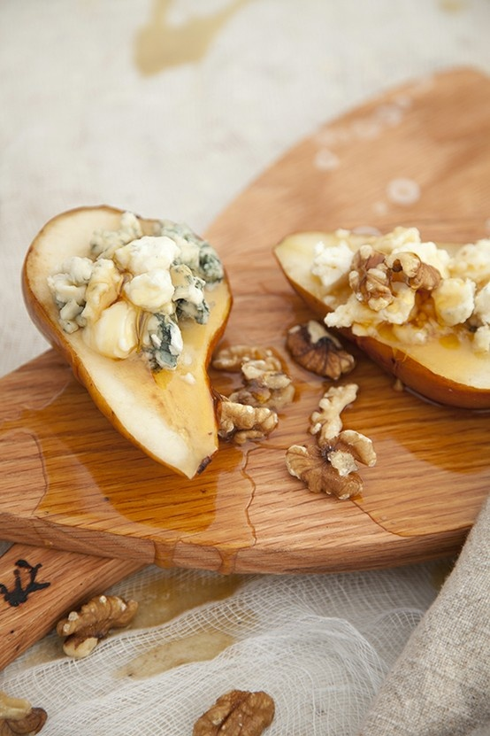 Zardetto + Honey and Cheese Stuffed Sautéed Pear Halves by Salted ...