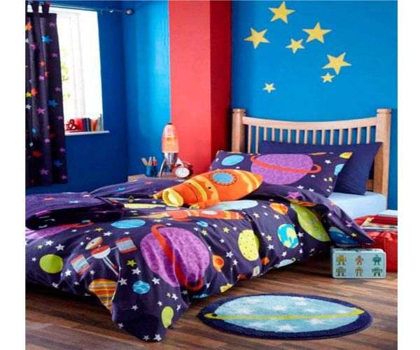 Idea for diy outer space room room ideas for kiddos for Outer space bedroom design