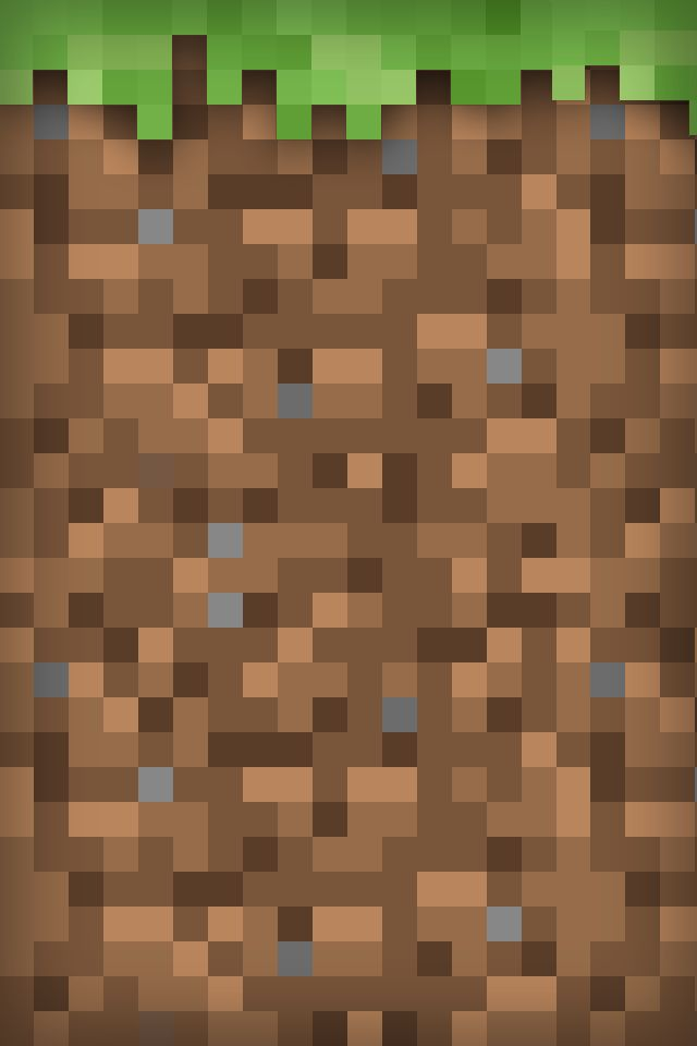 Minecraft Grass Block iPod Wallpaper! | Minecraft | Pinterest