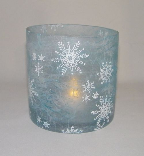 Tissue paper stamped candle holder 3d crafts pinterest for Cardboard candle holders