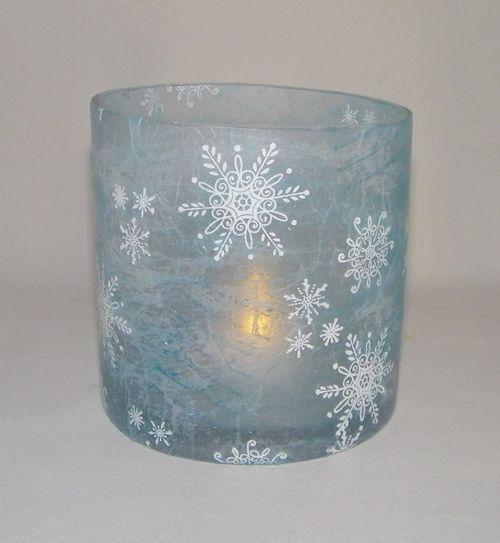 Tissue paper stamped candle holder 3d crafts pinterest for Candle holder crafts