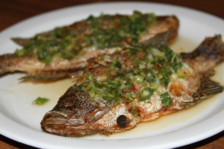 style crappies-- Cilantro, green onion, Thai chili peppers, fish sauce ...