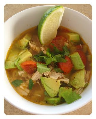 Chicken and Avocado Soup - Yummy...except for the avocado :/ Looking ...