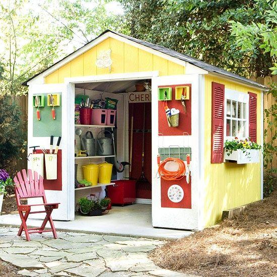 Shed organization outdoors pinterest for Garden shed organisation