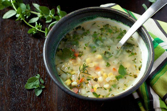 Fresh Corn & Herb Soup | Food - Soup for Me | Pinterest