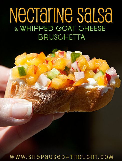 Nectarine Salsa with Whipped Goat Cheese Bruschetta |www ...