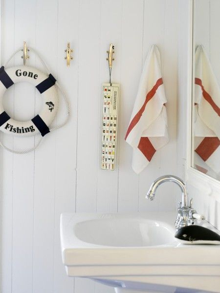 Nautical decor for kids bathroom for the home pinterest for Bathroom ideas nautical