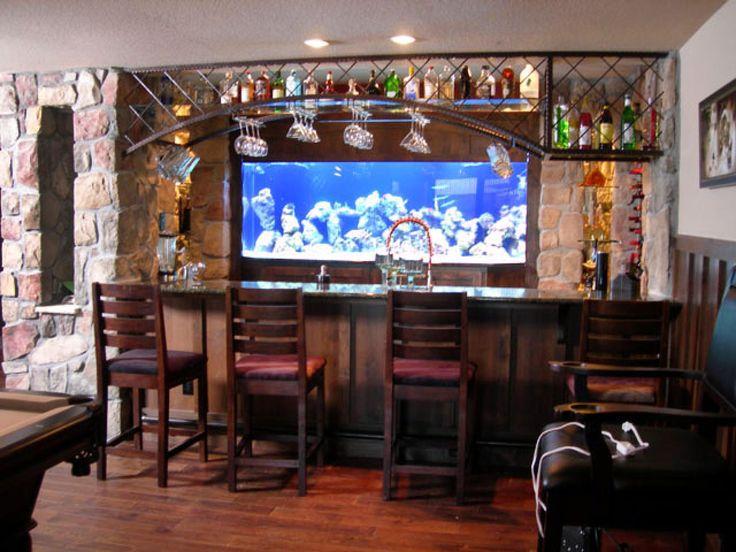 Private pub stone basement bar designs