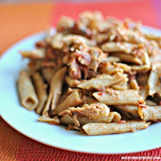 Slow Cooker Italian Flag Chicken Pasta - Becky's Best Bites GF