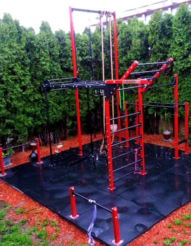 Backyard Gym Building : Outdoor  Gym ideas  Pinterest