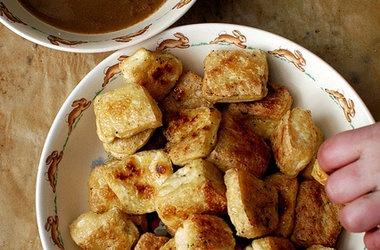 Roasted Tofu with Ginger Garlic Sauce | Gluten Free | Pinterest