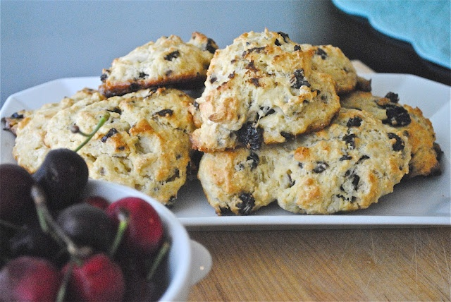 DRIED TART CHERRY SCONES - MAKES 6-8 SCONES