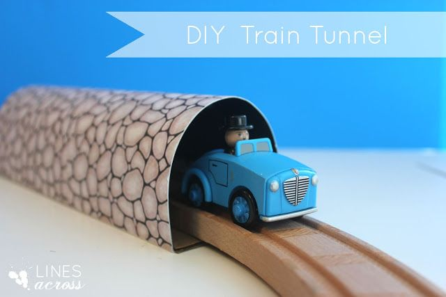 "Lines Across"": Make Your Own Train Tunnel and Mountain"