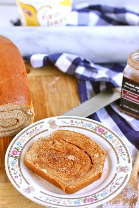 Whole Wheat Cinnamon Swirl Bread | One Day I'll be a Baker | Pinterest