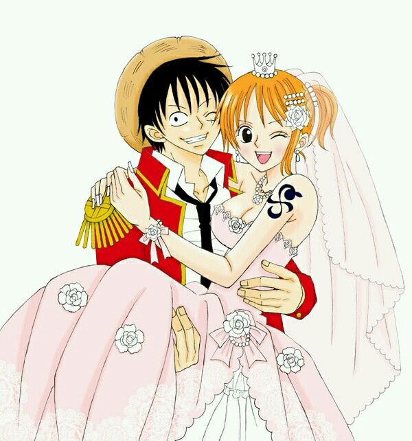 Nami and luffy wedding bands