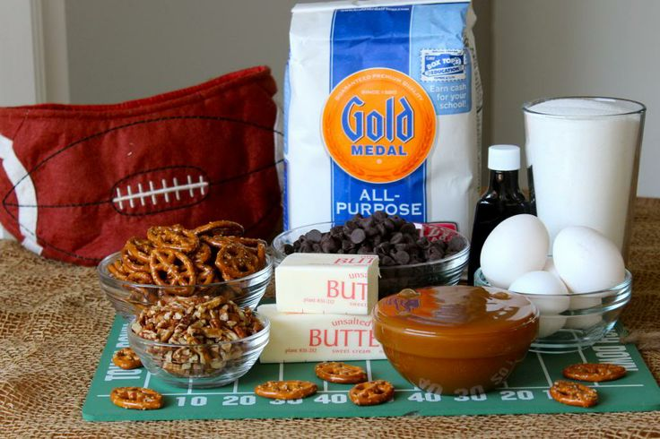 Touchdown Brownies | Game Day Food | Pinterest
